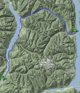 Kaslo Golf Directions